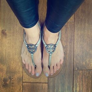 Tory Burch thong sandal with jewels